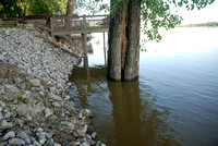 Flooded Ohio River 49.1 ft at Newburgh