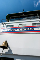 Aboard the Larry Y. Strain