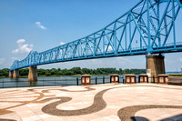Blue Bridge over Ohio River